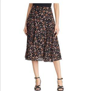 Kobi Halperin Womens Debbi Silk Print A-Line Skirt